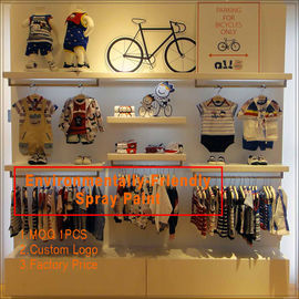 China Kids clothing kiosk design with clothing display racks fabriek