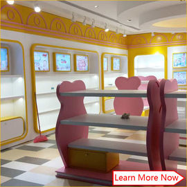 Costomized wooden no smellless painting nice colorful baby stores with lighting